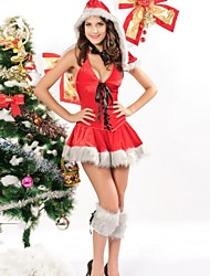 Elonbo® Lovely Santa Baby Red Acrylicr Spandex Sleeveless Women's Christmas Costume