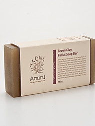 [Amini] Natural atopy skin major care handmade product Green Clay Facial Soap Bar