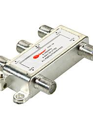 4-Wege-Satelliten-TV-Antenne Koaxial-Leistungsteiler silbrig