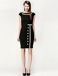 Abigail Splicing Contrast Color Fashion Dress