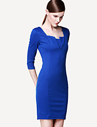 Monta Office Ladys Slim Fit Dress
