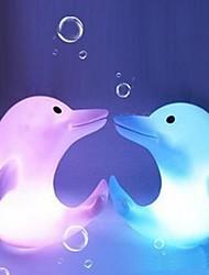 dauphin multicolore conception plastique de lumière la nuit (1pcs)