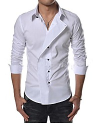 Men's Long Sleeve Shirt , Others Work/Formal Pure