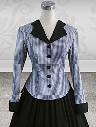 Long Sleeve Floor-length Grey and Black Cotton Classic Lolita Outfit