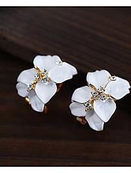 Viva Women's Flower Pattern Korean Cute Earrings