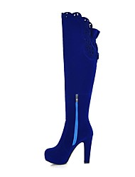 Women's Shoes Platform Round Toe Stiletto Heel over the knee boots with Zipper More Colors available