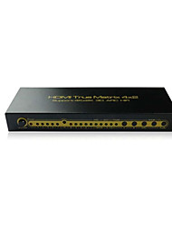 4x2 4:2 HDMI Matrix Switch Switcher Selector + 3D CEC,Support 4K,EDID for Audio & Video Setting,7.1/5.1 Channel