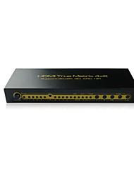 4x2 4: 2 hdmi sélecteur matrice commutateur sélecteur + 3d cec, support 4k, edid pour l'audio&réglage vidéo, 7.1 / 5.1