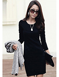 vestido del color del contraste de la manera de las mujeres m.xiu