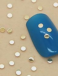 200pcs forme carrée soild métal doré décoration art tranche de l'ongle