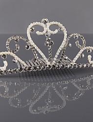 perla rhinestone tiara de la mujer