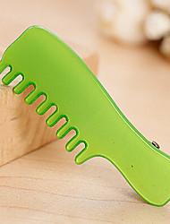 Sweet Fluorescent Comb Shape Barrettes Random Color