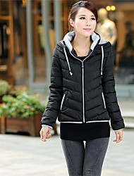 Women's Brief Paragraph Warm Cotton-padded Clothes Down Jacket