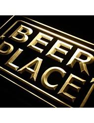 j034 lieu de bière signe bar pub néon de lumière