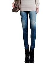 Undurchsichtig - Dehnbar - Enger Schnitt - Damen-Hosen (Polyester)
