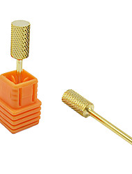 Fashion Golden Round Shape Nail Art File Drill Bits for Manicure