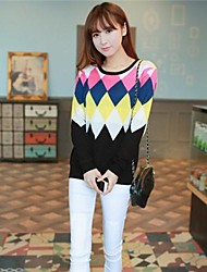 Women's Geometric Pattern Diamond Sweater