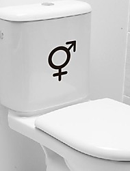 Cartoon Male and female symbol Toilet Posted Toilet Sticker