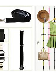 sobre a porta saco chapéu cabide alças reguláveis cabideiro organizador titular com 8 ganchos