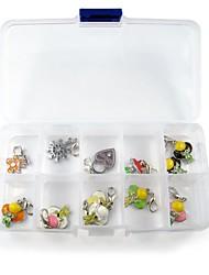 einfachen PVC-Kunststoff-Aufbewahrungsbox mit zehn Handlungsraster für die Speicherung von Tags Halsband für Hunde Haustiere