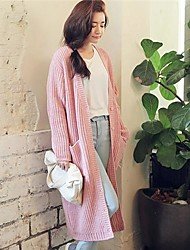 Women's Solid Color Long Sweater