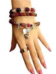 calebasse Pendentif calcédoine cristal naturel bracelet des femmes (multicolore) (1 pc)