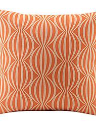 anguria arancione legata cotone / lino copertura del cuscino decorativo