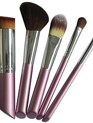5Pcs Pink Mini Travel Make Up Brush Kit