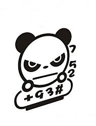lovely panda carro cartoon adesivos decorativos tampa do tanque de gás