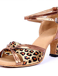Latin Women's Sandals Low Heel Leopard grain Dance Shoes (More Colors)