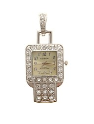 ZP 64GB Pendant Watch Pattern Crystal Jewelry Style with Clock USB Flash Drive
