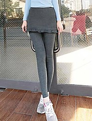 Women's Black/Gray Skinny Pants , Bodycon/Casual