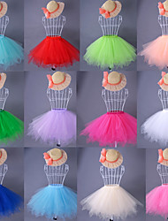Slips Ball Gown Slip Knee-Length Taffeta Satin Organza White Black Red Blue Green Pink Orange Beige