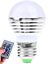 ywxlight® 3w E26 / e27 привели глобус луковицы 1 высокой мощности привело 180LM RGB с дистанционным управлением AC85-265V