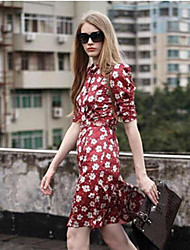 novo estilo europeu vestido zou Margarida Feng Shi mulheres