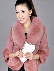 coat_115 xt pele de raposa (branco, rosa, preto)
