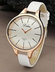 Mulheres Relógio de Moda Quartz PU Banda Relógio de Pulso Preta / Branco / Marrom