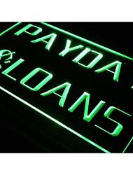 signe lumineuse néon de lumière de prêts sur salaire I060