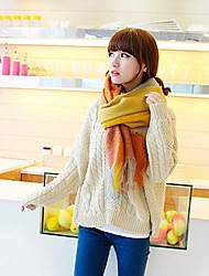 Women's Long Color Matching Keep Warm Scarves