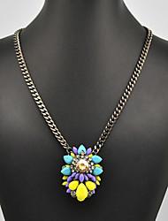 Eternity Women's Rainbow Flower Pattern Necklace