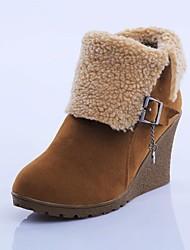 botas de nieve de las mujeres zapatos de cuña del ante del talón botines más colores disponibles