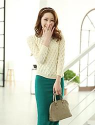 Women's New Winter Han Edition  Long-Sleeved Loose Circle Wave Twist Of Irregular Sweater