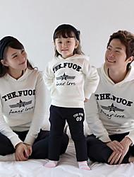 Family's Fashion Leisure Parent Child Pentagram Long Sleeve Hooded Exercise Clothing Set