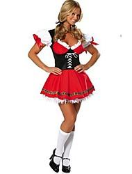 красивая германия oktoberfes красный терилена костюм hallewoon