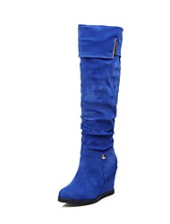 Women's Shoes Fashion Boots Wedge Heel Knee High Boots with Sequin More Colors available