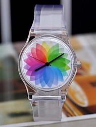 moda rugiada burlone sufeng originale colore irreale orologi trasparenti delle donne