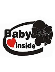 avertissement de sécurité automatique pour le bébé dans le autocollant de voiture
