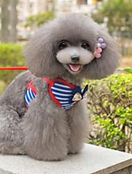 Собаки Ремни Море Красный / Синий Текстиль
