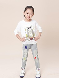 Girl's Cotton Blend Jeans , All Seasons