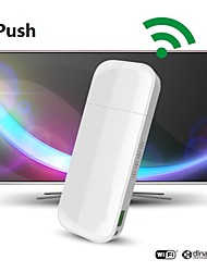 iPush D2 multimedia WiFi con DLNA AirPlay Display Receiver para iOS inteligente Android TV Box Stick Player Mini PC HDMI de la antena de TV